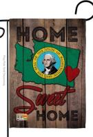 State Washington Home Sweet Garden Flag