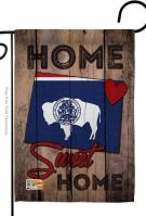 State Wyoming Home Sweet Garden Flag