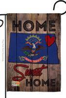 State North Dakota Home Sweet Garden Flag