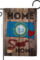 State South Dakota Home Sweet Garden Flag