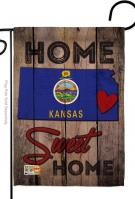 State Kansas Home Sweet Garden Flag