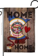 State Minnesota Home Sweet Garden Flag