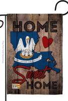 State Louisiana Home Sweet Garden Flag