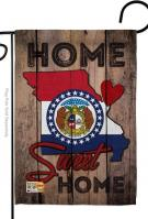 State Missouri Home Sweet Garden Flag