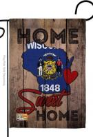 State Wisconsin Home Sweet Garden Flag