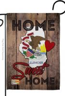 State Illinois Home Sweet Garden Flag