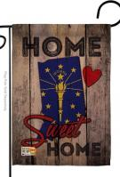 State Indiana Home Sweet Garden Flag