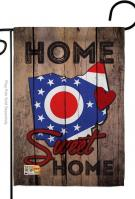 State Ohio Home Sweet Garden Flag