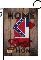 State Mississippi Home Sweet Garden Flag