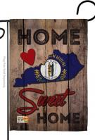 State Kentucky Home Sweet Garden Flag