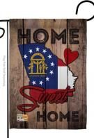 State Georgia Home Sweet Garden Flag