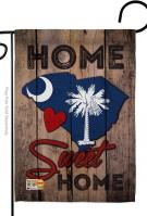State South Carolina Home Sweet Garden Flag