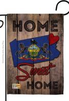 State Pennsylvania Home Sweet Garden Flag