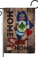 State Maine Home Sweet Garden Flag
