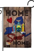 State New York Home Sweet Garden Flag