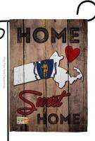 State Massachusetts Home Sweet Garden Flag