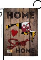 State Maryland Home Sweet Garden Flag