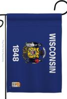 Wisconsin Decorative Garden Flag