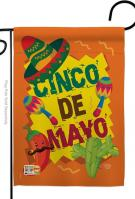 Cinco de Mayo Decorative Garden Flag