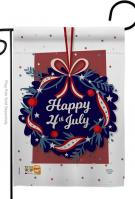 Happy 4th Of July Decorative Garden Flag