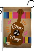Celebrate Guitarron Cinco de Mayo Garden Flag