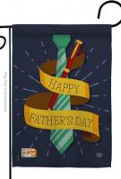Happy Smartest Dad Garden Flag
