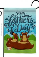 Beary Happy Father\'s Day Garden Flag
