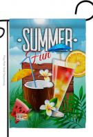 Cool Summer Drinks Garden Flag