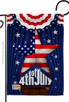 Stars 4th Of July Decorative Garden Flag