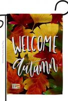 Welcome Autumn Leaves Garden Flag