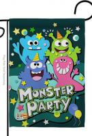 Monster Party Garden Flag