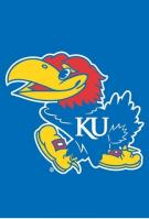 Kansas Jayhawks Garden Window Flag 15\