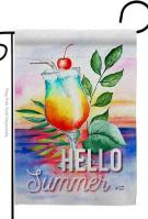 Summer Cool Drink Garden Flag