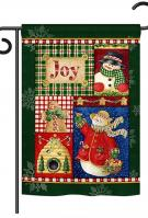 Joy Snow Woman Garden Flag