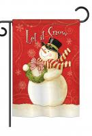 Scarf Snowman Let It Snow Garden Flag