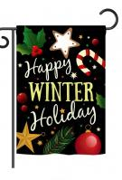 Happy Winter Holiday Garden Flag