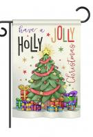 A Holly Jolly Christmas Garden Flag