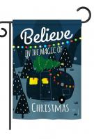 Believe The Magic Trailer Garden Flag