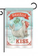 Sealed With A Kiss Garden Flag