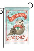 Christmas Like No Otter Garden Flag