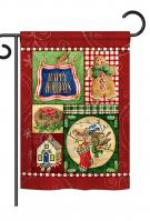 Happy Holiday Gingerbread Garden Flag