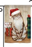 Christmas Kitty Garden Flag
