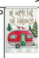 Home For Holidays Garden Flag