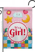 It\'s A Baby Girl Garden Flag