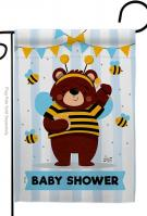 Baby Bear Shower Garden Flag