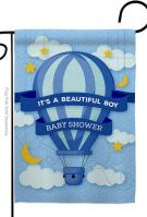Baby Shower Boy Garden Flag