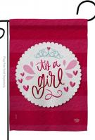 It\'s A Girl Decorative Garden Flag