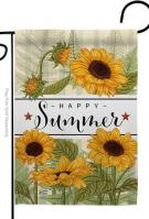 Happy Sunflowers Garden Flag