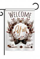 Welcome Y\'ll Cotton Reef Garden Flag