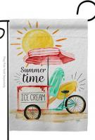 Summer Time Ice Cream Garden Flag